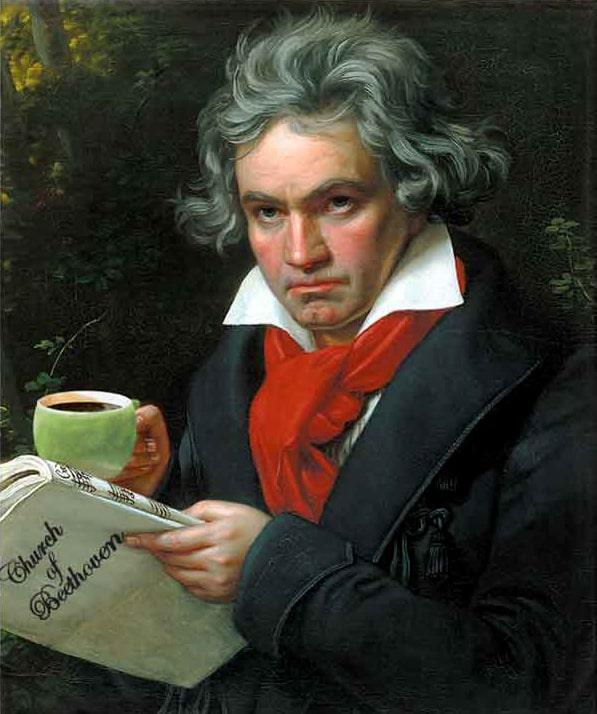 بتهوون عاشق قهوه